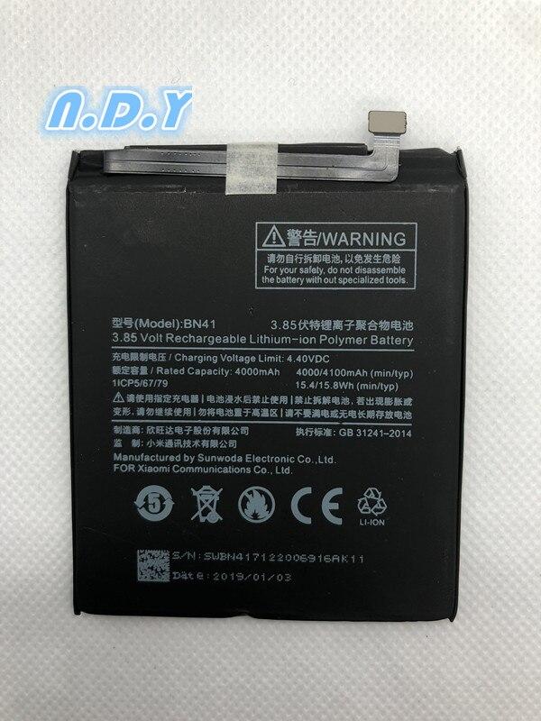 4000mAh BN41 Hongmi Note 4 Battery For Xiaomi Redmi Note 4 Battery Bateria mobile phone