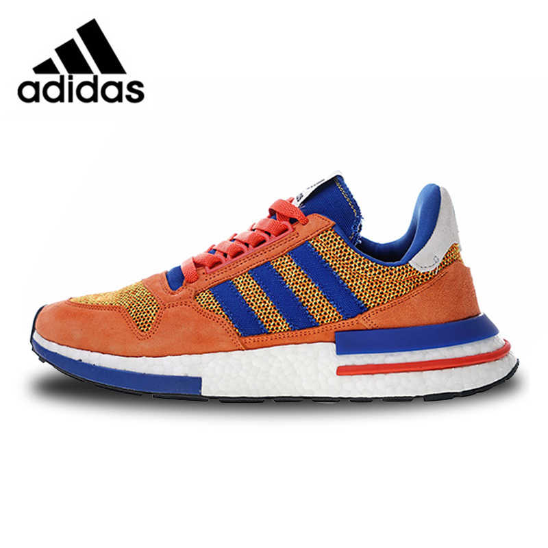 647e96fd9fb89 Adidas ZX500 RM Boost Retro Running Shoes Orange Blue For Man And Women  Unisex D97046 36