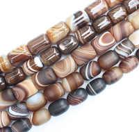 """Frost, glatte Multi Größe 13-25mm coffe Farbe Streifen achate Trommel form perlen 15 """", können gemischt werden whole für alle artikel!"""