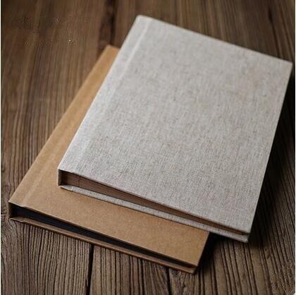 Couverture en lin artisanat Vertical couverture papillon à couverture rigide Album de bricolage rétro Album Menu recette multi-usages Scrapbook Album bébé