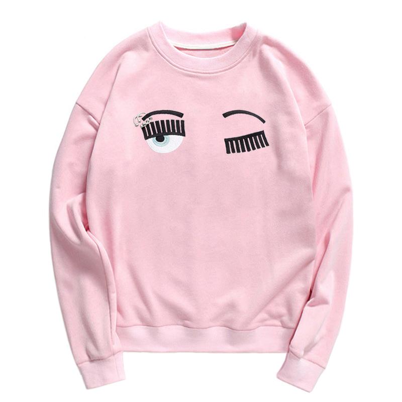 HTB1.QFeSpXXXXXpXXXXq6xXFXXXi - Eyebrow Embroidery Sweatshirt Women PTC 86