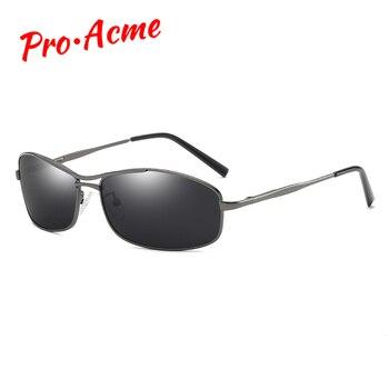 Pro Acme Merek Baru Terpolarisasi Kacamata Pria Persegi Panjang Pria Berjemur Kacamata Mengemudi Fashion Perjalanan Kacamata UV400 dengan Case PA0968