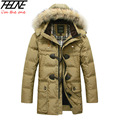 BRAND Down Jacket Winter Jacket Men Coat 90% White Duck Long Thicken Outwear Hooded Real  Fur Men's Parka Big Size 4XL