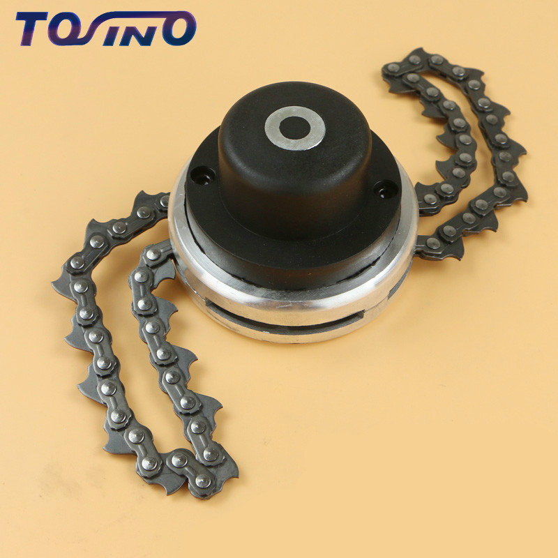 2018 New M10*1.25LH Trimmer Head Coil Chain Brushcutter Garden Grass Trimmer head AND Alternate chain For Lawn Mower