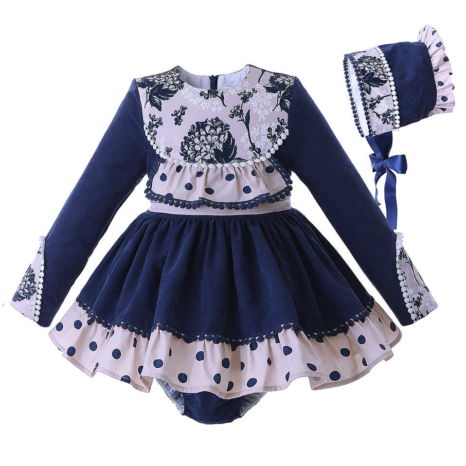 Pettigirl Latest Baby Girls Princess Clothing Set Follow Dots With PP-pants  Kids Autumn Costumes 8e4c8972be41