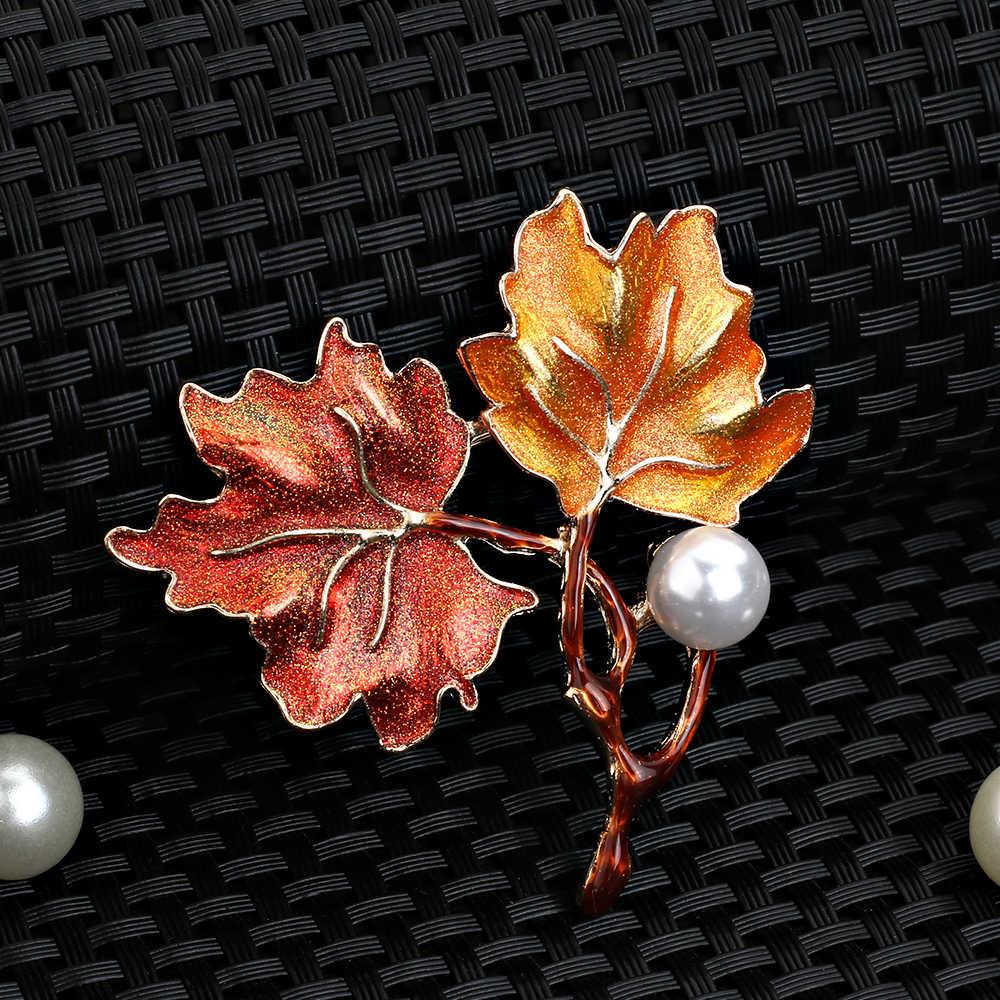 f27d3baaa ... liujun fashion Maple Leaf Enamel Brooch For Men Women Leaves Brooches  Lapel Pin Man Broche Fashion ...
