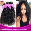 6A peruano cabelo virgem crespo cabelo encaracolado Afro crespo encaracolado cabelo virgem peruano cabelo Weave nenhum derramamento