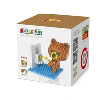 LOZ 9430 Use the Toilet Urinal Brown Bear  Diamond Bricks Minifigures Building Block Best Toys Compatible with Legoe
