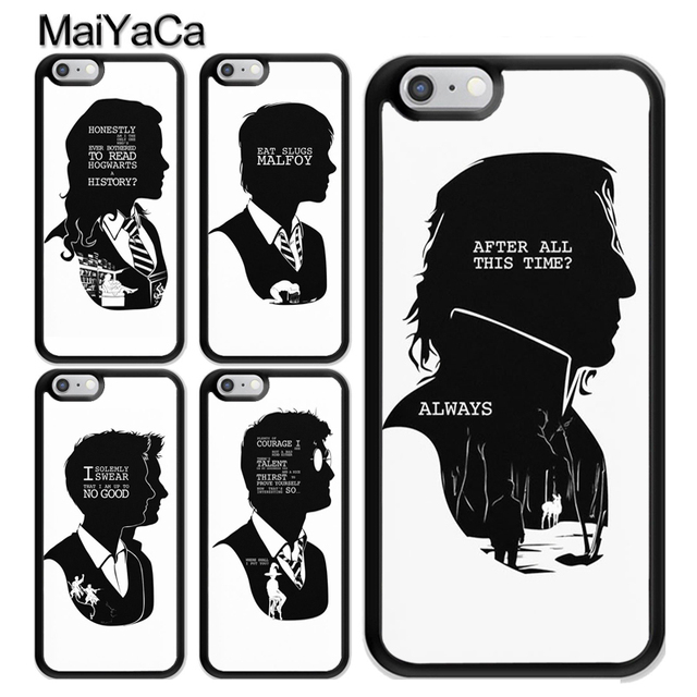 MaiYaCa HARRY POTTER QUOTES RON HERMIONE SNAPE Printed Soft Case For Unique Harry Potter Quotes
