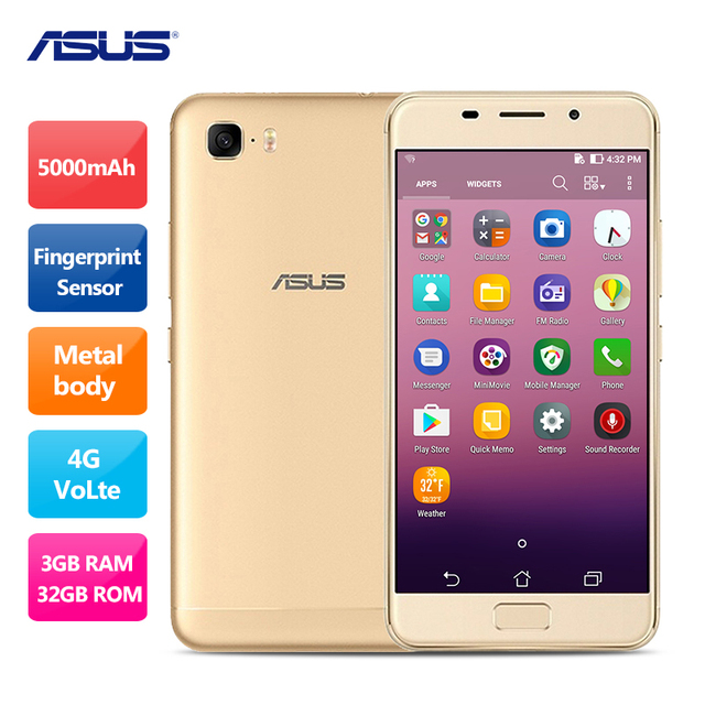 ASUS Pegasus 3S Zenfone 3s Max MTk6750 Octa Core Android 7.0 Mobile Phone 5.2 Inch 3GB RAM 32GB ROM Front Touch ID 5000mAh
