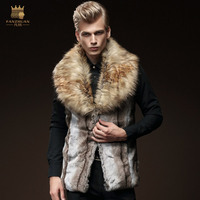 Free Shipping New Fashion Male Men S Winter 2015 Sleeveless Vest Slim Faux Fur Vest Warm