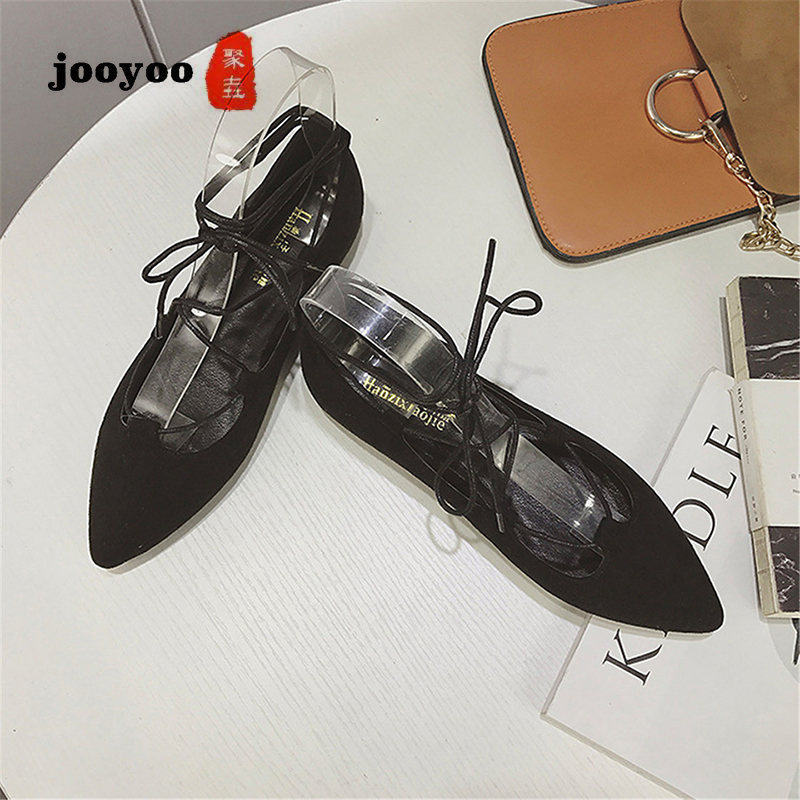 Roman-Shoes Pointed-Straps Flat Female Large-Size Fashion New Jooyoo with Tide Wild Women's