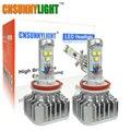 CNSUNNYLIGHT H8 H9 H11 LED de Alta Potencia Con Virutas DEL CREE de Coches Lámpara de La linterna Para Coches Camiones Cabeza Niebla DRL Daytime Running Light