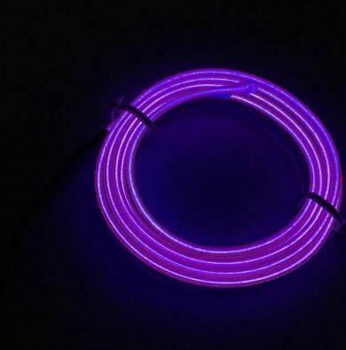 Haoyuehao 1M orange flexible Auto Car Interior LED EL Wire Rope Tube Line neon light glow salon flat strip Pathway Lighting 12V