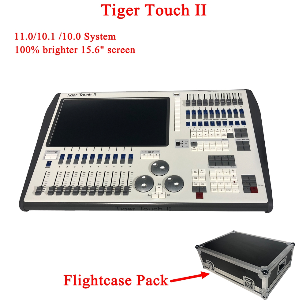 NEW Tiger Touch II Controller DJ Equipment DMX 512 Console Stage Lighting For LED Par Moving Head Spotlights Disco DJ Controlle телевизор telefunken tf led24s37t2