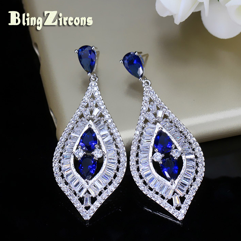 Buy blue earrings evening and get free shipping on AliExpress.com ec16895aa9f2