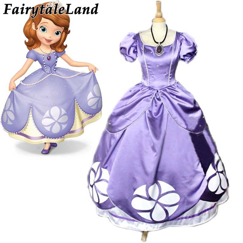 Princess Sofia Dress Sofia The First Princess Sofia Cosplay Costume For Adults Halloween Costumes Birthday Fancy Sofia Dress