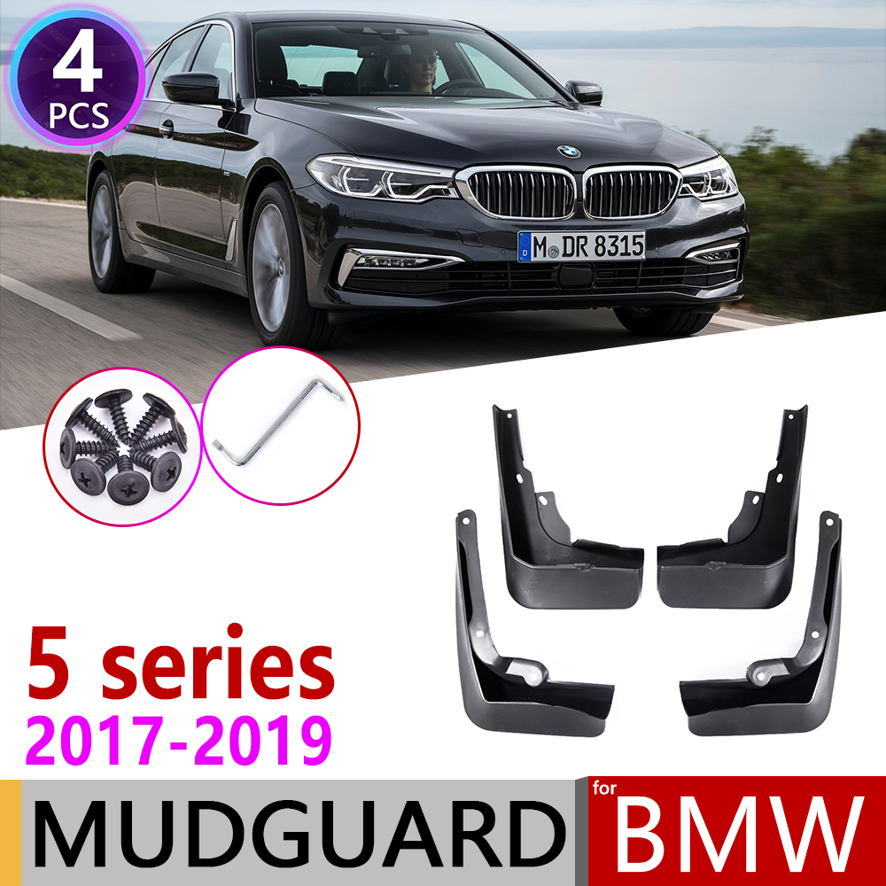 For BMW 5 Series <font><b>G30</b></font> 2017 2018 2019 Front Rear Car Fender Mud Guard Flaps Splash Flap Mudguards Accessories <font><b>G30</b></font> <font><b>520i</b></font> 525i 528i image