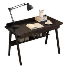 Деревянный стол Простой японский стол черный студенческий стол простой настольный компьютер настольный бытовой