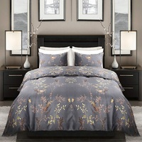 Puredown Bedding Set Without Bed Sheets 100% Polyester Imitate Egypt Cotton Printed With Elastic Band Duvet Cover Set Queen Size