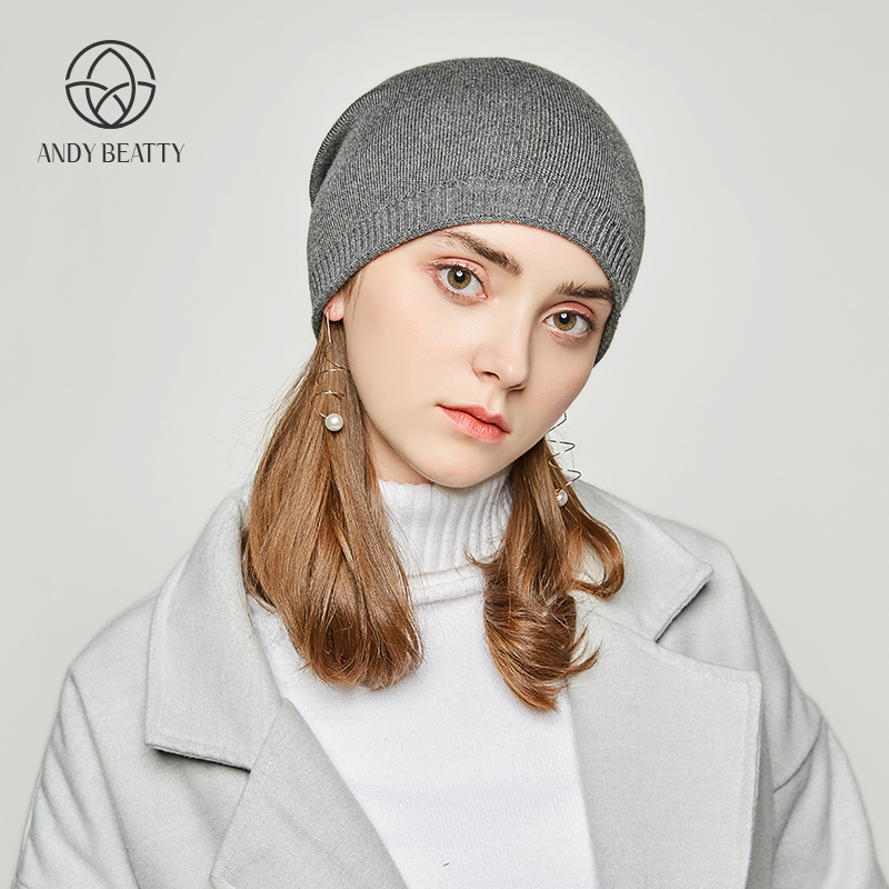 Andybeatty Winter Hats For Women Solid Wool Asymmetrical Knitted Vogue Brand Casual Warm Hat Female Skullies Beanies Bonnet