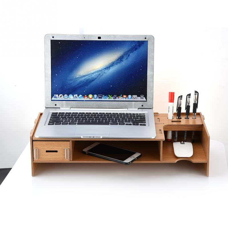 Desktop Monitor Stand for Laptop TV Monitor 2-level Monitor Organizer Desktop Items Storing Desktop Monitor Stand