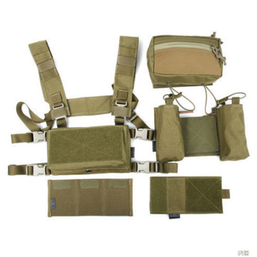TMC Hunting Tactical Airsoft Vest Modular Chest Rig Set