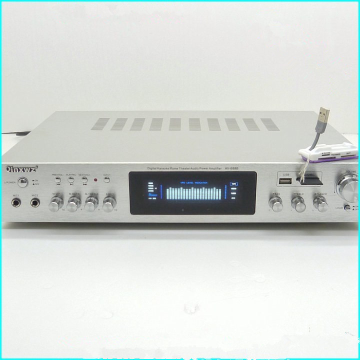 AV-688B 600W 5 channel amplifier professional digital Karaoke home theater amplifier / HiFi amplifier видеорегистратор artway av 711 av 711