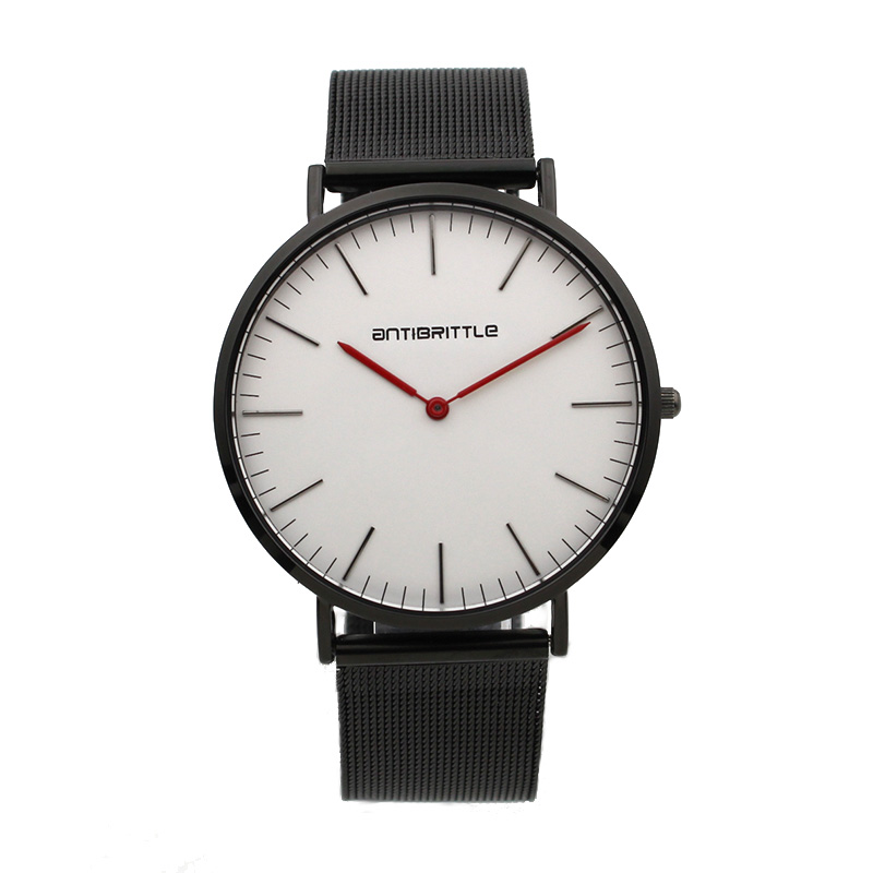 Japan Quartz Red Hand Men Minimalist Watch Classic Women Thin Leather Mesh Stainless Steel Magnet Band Waterproof Antibrittle in Quartz Watches from Watches