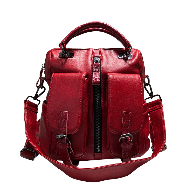 Color backpack bag 2018 womens bag new style autumn winter backpacks shoulder spanning three bags with pure color  BackpackColor backpack bag 2018 womens bag new style autumn winter backpacks shoulder spanning three bags with pure color  Backpack