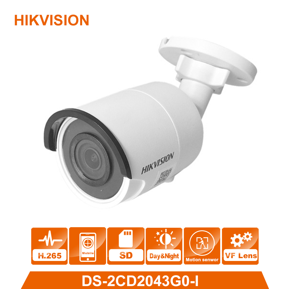 Hik Original DS-2CD2043G0-I 4MP Network Bullet Camera Security System upgrade DS-2CD2042WD-I outdoor monitor newest hik ds 2cd3345 i 1080p full hd 4mp multi language cctv camera poe ipc onvif ip camera replace ds 2cd2432wd i ds 2cd2345 i