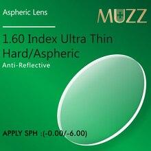 Muzzメガネレンズ 1.60 インデックスシンナー、ライター高品質近視スーパータフ樹脂光学処方メガネ 2 個