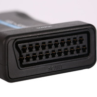 PC VGA To SCART Video Audio Converter Adapter With Remote Control VGA Enabled Laptop USB DC