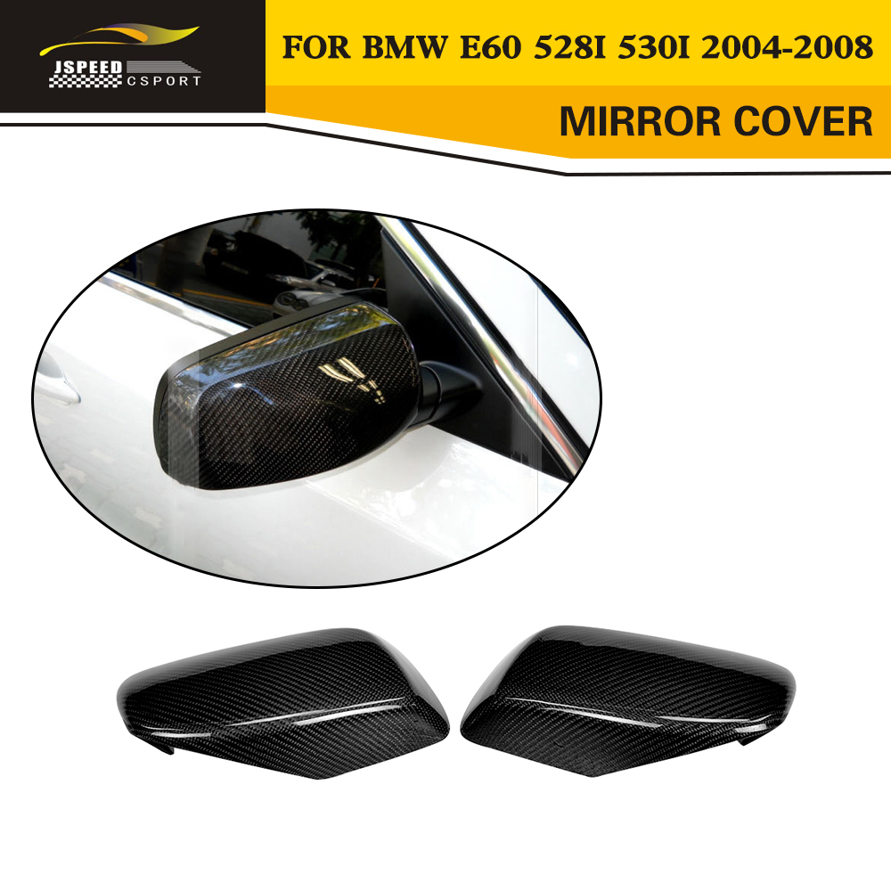 Car Styling Carbon Fiber Racing Side Mirror Cover Caps For BMW 5 Series E60 528i 530i 2005-2008 carbon fiber side mirror cover caps overlay for 2005 2006 2007 2008 bmw e90 e91 3 series