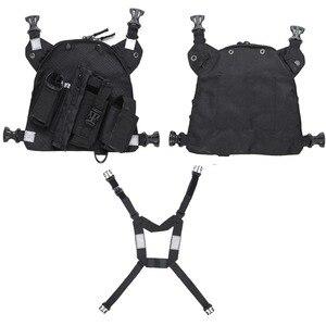 Image 3 - Abbree راديو الصدر تسخير الصدر الجبهة حزمة الحقيبة الحافظة الصدرية تلاعب الصدر حقيبة ل اسلكية تخاطب موتورولا Baofeng UV 5R TYT Wouxun