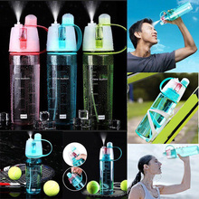 2019 Newly Sports Mist Spray Cooling Bottle Cycling Water Gym Beach Leak-proof Drinking Cup FG66