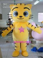 yellow cat mascot costumes for sale anime carnival costume Halloween Dress kids party