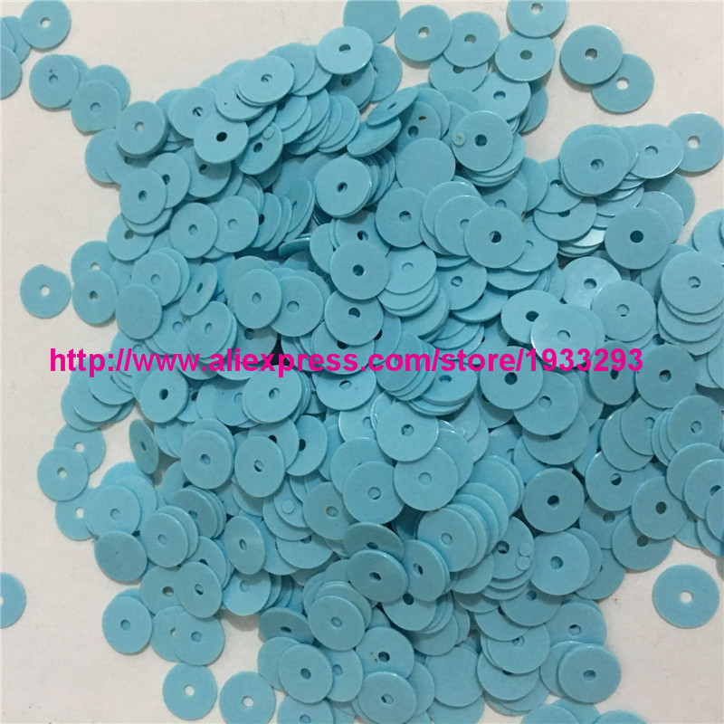 4000pcs(50g)Solid Light Blue Color 6mm Flat round loose Sequins Paillette  Sewing Garment Clothing accessories Sequins for crafts-in Sequins from Home  ... d14665e7c042