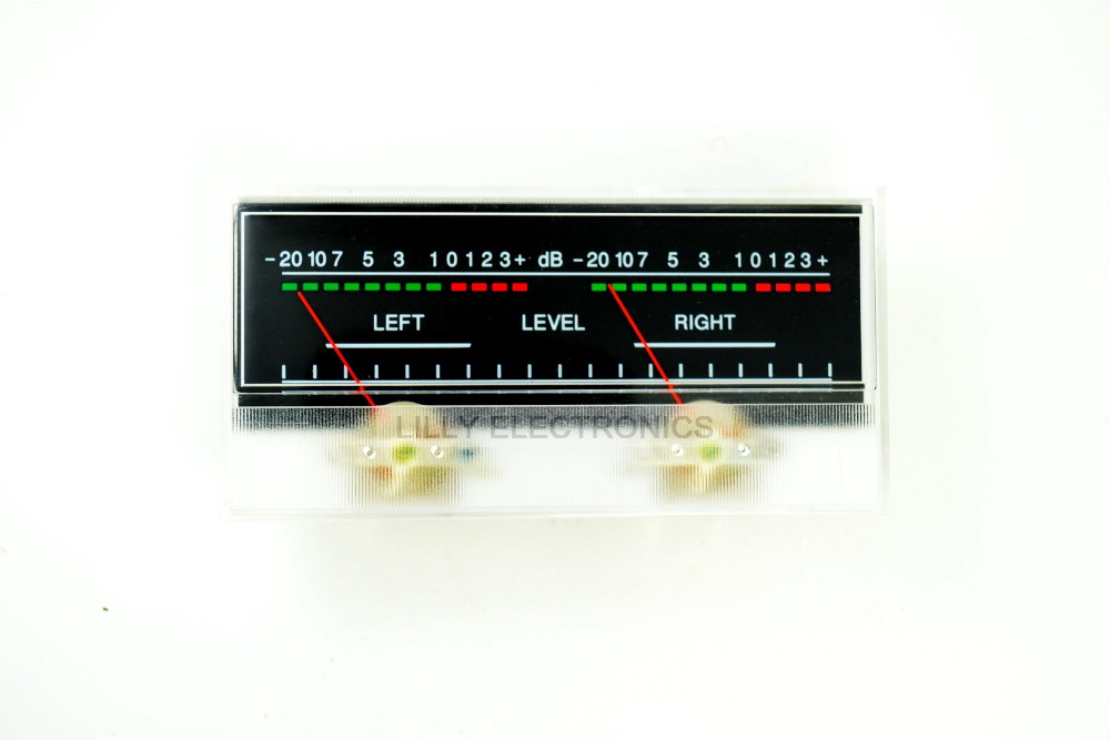 100pcs/Lot SD-319 Panel 2 VU Meter 500uA 680Omega 115x54mm No Lamp 100pcs lot stm8s003f3p6 st tssop20