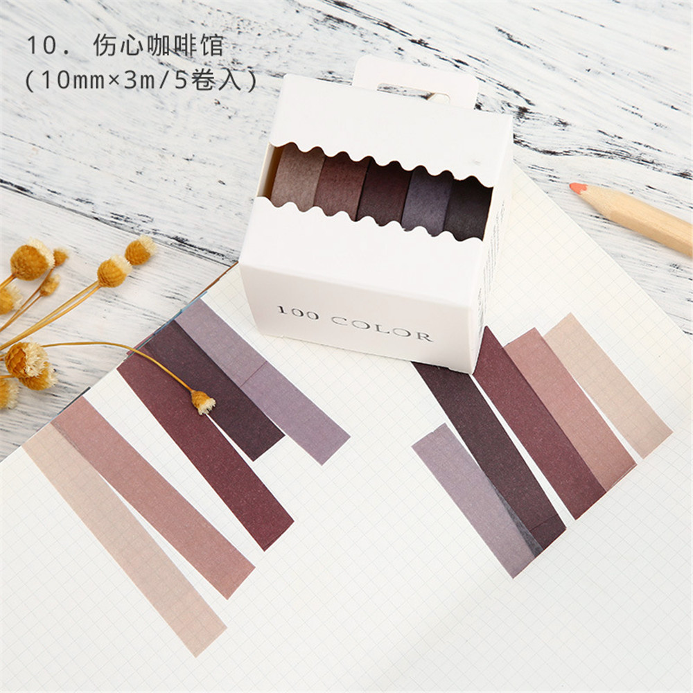5pcs/set Fall Rainbow Masking Christmas washi tape Cute Paper Japanese Stationery Kawaii Scrapbooking Supplies Sticker