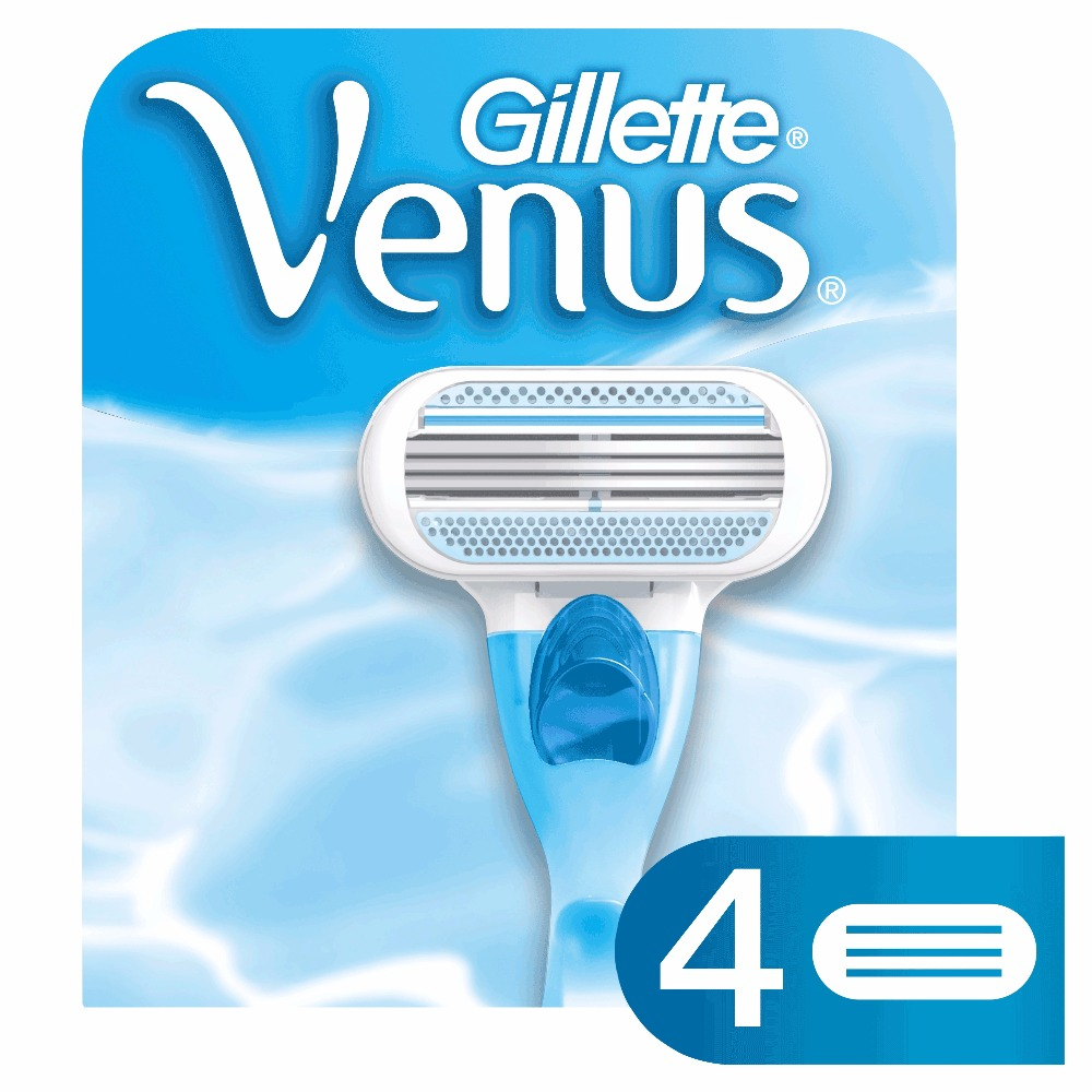 Replaceable Razor Blades for Women Gillette Venus Blade 4 pcs Cassettes Shaving Venus shaving cartridge 2018 new usb charge waterproof electric shaver for men rechargeable intelligent 3d head shaver razor beards trimmer shaving machin