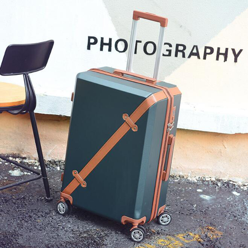 TRAVEL TALE 20 24 26 inch hardside vintage abs suitcase spinner trolley koffer luggage with wheels