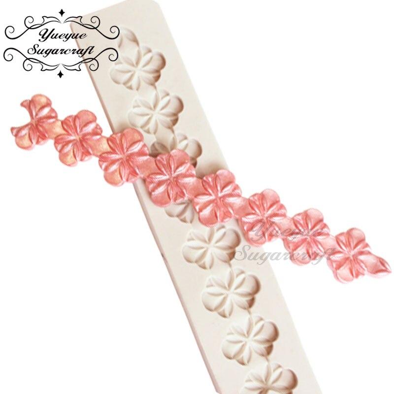Yueyue Sugarcraft цветок силиконовая форма помадка формы украшения торта инструменты форма для шоколадной мастики