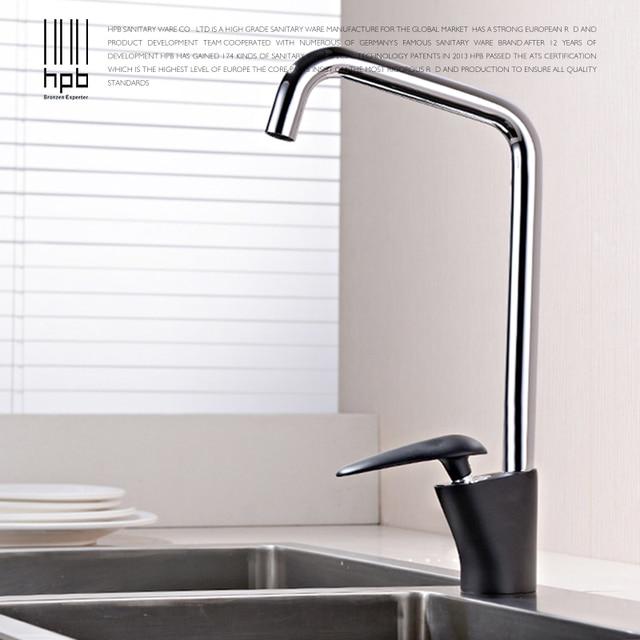 HPB Design Moderno Chrome Vernice Nera Rubinetti Della Cucina ...