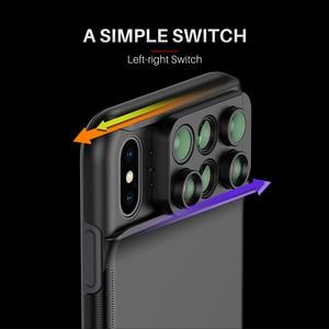 Image 2 - Pholes 6 in 1 Phone Lens iPhone Xs 용 케이스 커버 포함 Max XR 와이드 앵글 매크로 렌즈 Fisheys Zoom 카메라 HD 렌즈 for iPhone