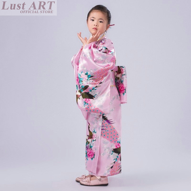 Amosfun Pigiama Giapponese per Bambini Kimono Kimono Giapponese per Bambini