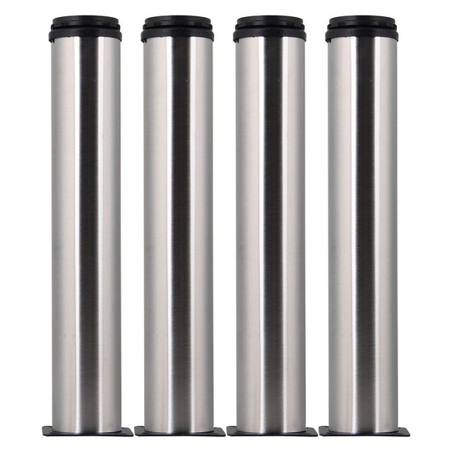 4pcs 300mm Height Furniture Cabinet Metal Legs Adjustable Stainless Steel Kitchen Feet