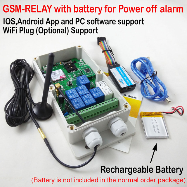 Seven relay output GSM remote control relay switch box (QUAD band) New version Support DTMF