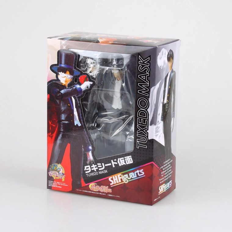 SHFiguarts Sailor Moon Tuxedo Mask Chiba Mamoru 20th PVC Action Figure Collectible Model Toy 16cm KT3899 moon flac jeans