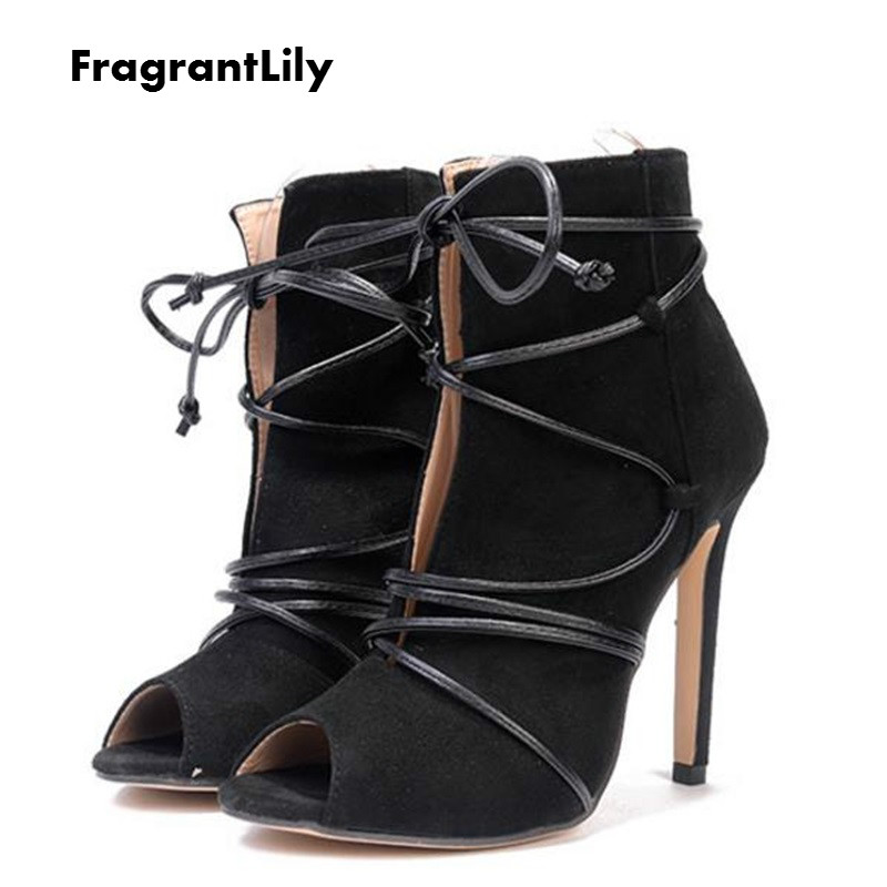 FragrantLily 2018 Spring new hot women pumps sexy high heels Korean version Suede fish m ...